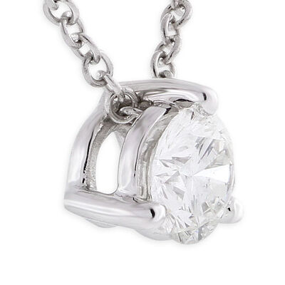 Signature Forevermark Diamond Pendant 18K White Gold 1/3 Carat