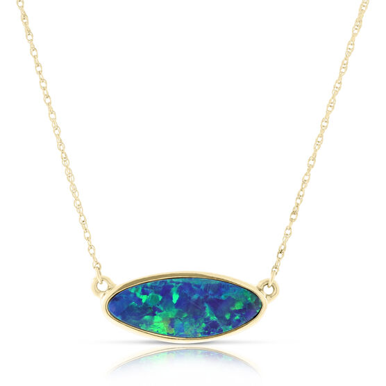 Opal Doublet Necklace 14K