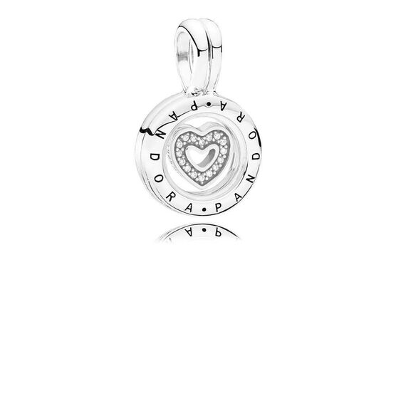 PANDORA Floating Locket CZ Charm / Pendant