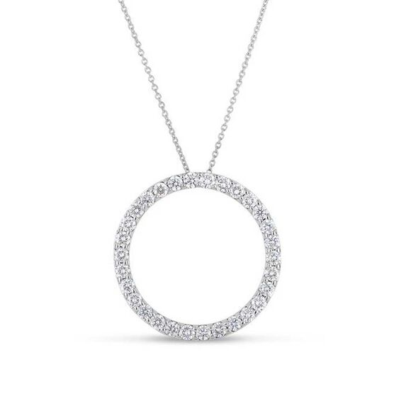 Roberto Coin Tiny Treasures Diamond Circle Necklace 18K