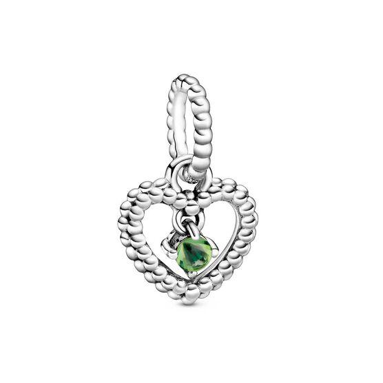 Pandora Purely Pandora Spring Green Crystal Beaded Heart Dangle Charm