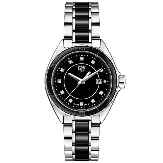 TAG Heuer Formula 1 Quartz Ladies Black Steel & Black Ceramic Watch