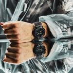 G-Shock Transparent Gray Resin Analog Digital Watch, 51.2mm