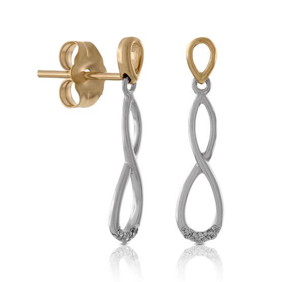 Diamond Twist Earrings 14K