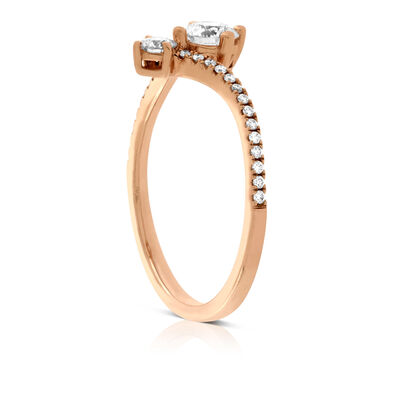 Rose Gold Signature Forevermark Diamond Ring 18K