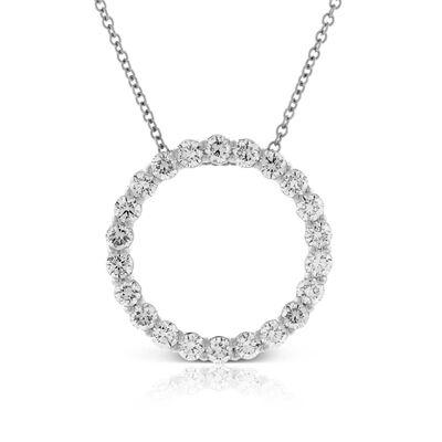 Diamond Circle Pendant 14K, 1 ctw.