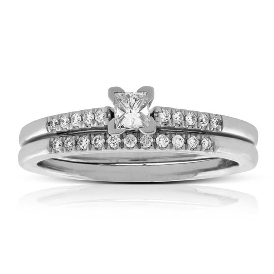 Princess Cut Diamond Bridal Set 14K