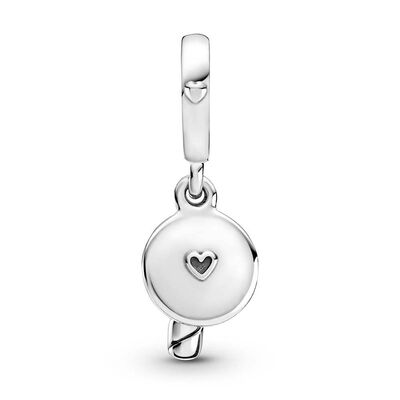 Pandora Two-tone Birthday Candle Dangle Charm, 14K & Silver