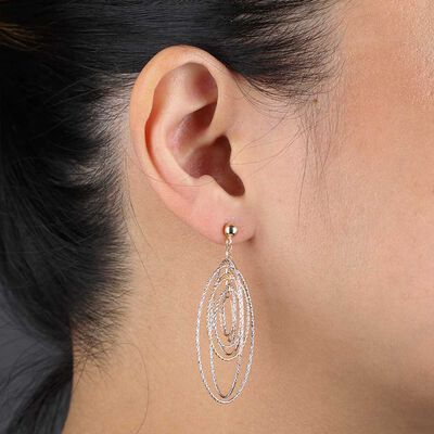 Toscano Tri-Color Mobile Earrings 14K