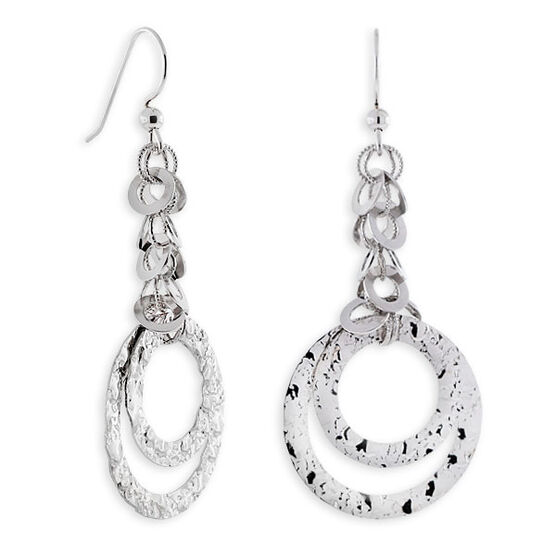Circle Dangle Earrings 14K