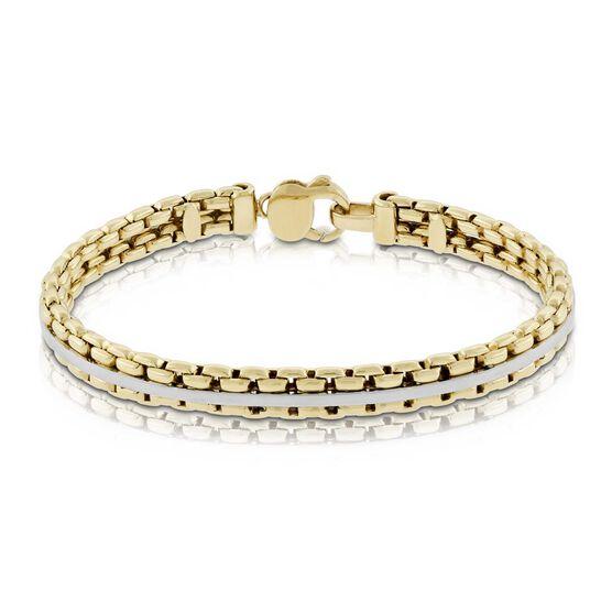 Toscano Agganciata Link Cuff Bracelet 14K