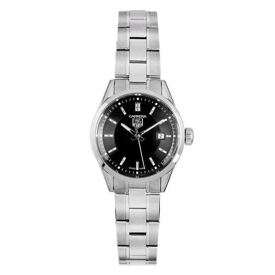 Pre-Owned TAG Heuer Lady Carrera Black Dial Watch, 27mm