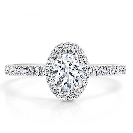 Forevermark Black Label 1/3 ct. Oval Cut Diamond Engagement Ring 18K