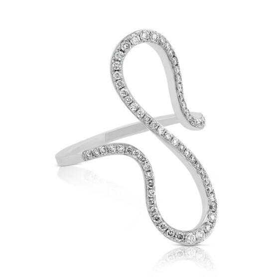 Curved Loop Diamond Ring 14K