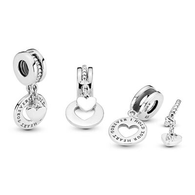 Pandora Hold Your Heart Split Dangle Charm