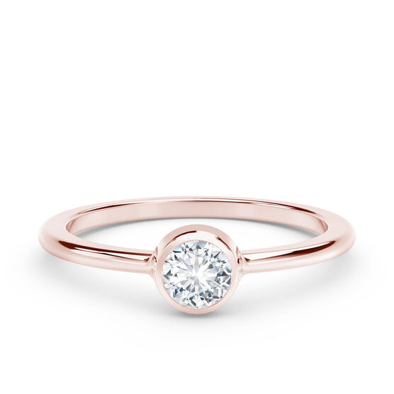 The Forevermark Tribute™ Collection Classic Bezel Rose Gold Diamond Ring 18K