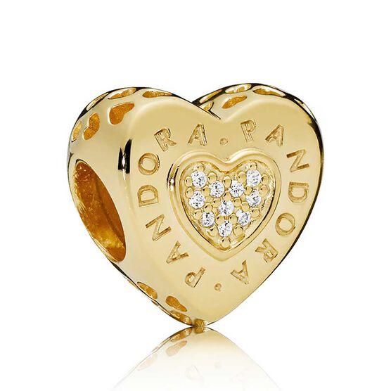 Pandora Signature Heart CZ Charm, Pandora Shine™