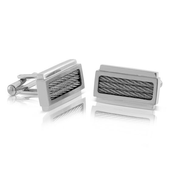 Cable Cuff Links in Stainless Steel