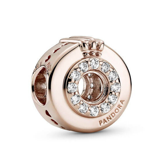 Pandora Rose™ Open Center Pavé CZ Crown O Charm