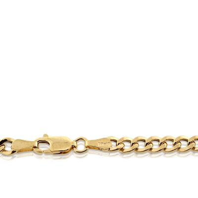 "Flat Curb Link Chain 14K, 24"""