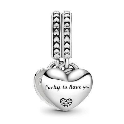 Pandora Daughter- & Mother-in-Law Enamel & CZ Split Dangle Charm