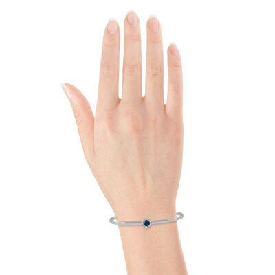 Sapphire & Diamond Cuff Bracelet 14K