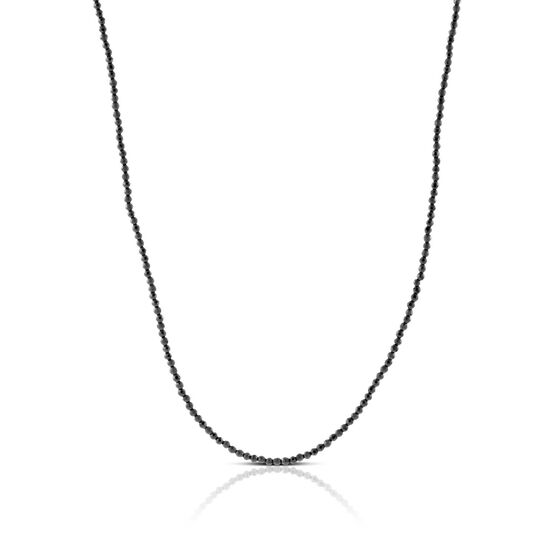 Lisa Bridge Faceted Hematite Bead Necklace