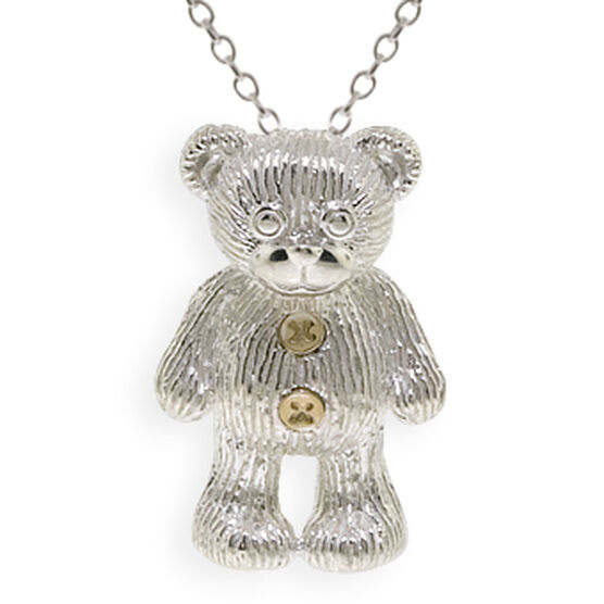 2009 Benny Bear Pendant in Sterling Silver & 14K