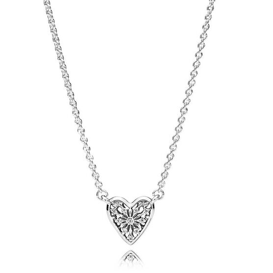 PANDORA Heart of Winter CZ Necklace