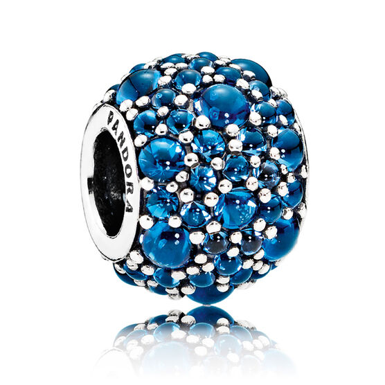 PANDORA Shimmering Droplets Charm, London Blue Crystal