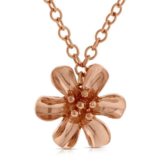 Rose Gold Flower Pendant 14K