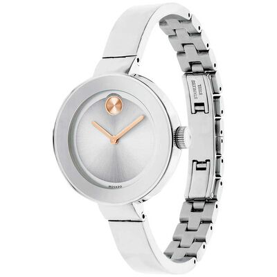 Movado Bold Rose PVD Detailed Bangle Watch