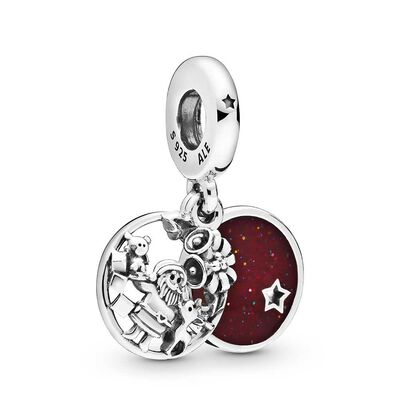 Pandora Santa Love Peace Joy Enamel & CZ Dangle Charm