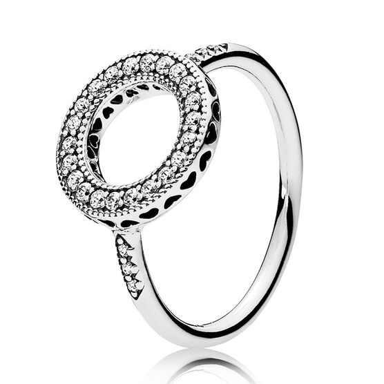 Hearts of PANDORA CZ Halo Ring