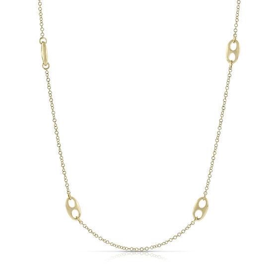 Toscano Double Eyelet Necklace 14K, 26.5""
