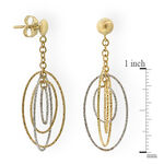 Dangle Oval Earrings 14K