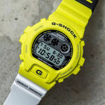 G-Shock Yellow & White Digital Watch, 53.2mm