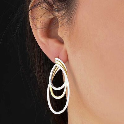Toscano Triple Hoop Earrings 14K