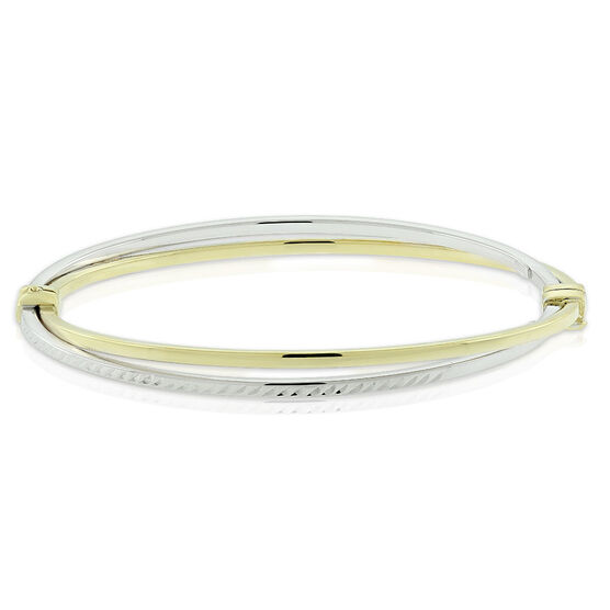Crossover Bangle Bracelet 14K