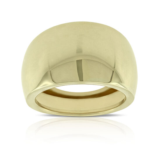 Toscano Smooth Domed Ring 14K
