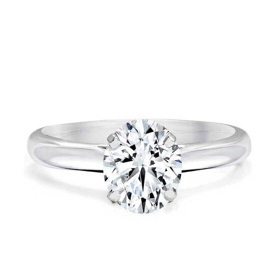 Forevermark Black Label Oval Cut Diamond Solitaire Engagement Ring 18K