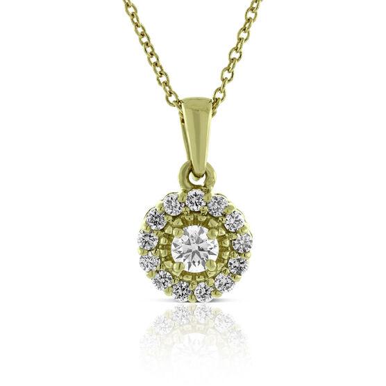Ikuma Canadian Diamond Halo Necklace 14K
