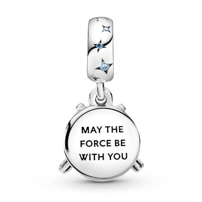 Pandora Star Wars Lightsaber Enamel, Crystal & CZ Double Dangle Charm