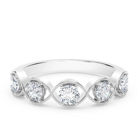 The Forevermark Tribute™ Collection Braided 5-Stone Diamond Ring 18K