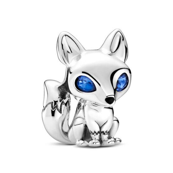 Pandora Blue-Eyed Fox Crystal & Enamel Charm