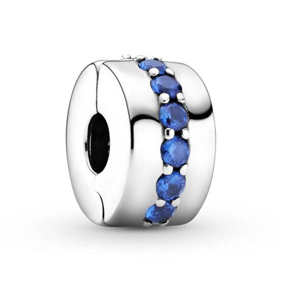 Pandora Blue Sparkle Crystal Clip Charm