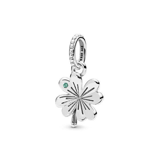 Pandora Lucky Four Leaf Clover Crystal Pendant