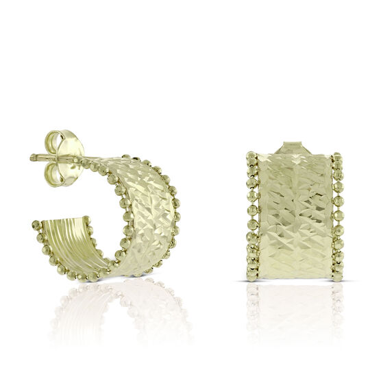 Toscano Cuff Hoop Earrings 14K