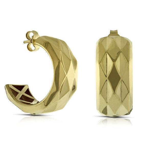 Toscano Huggie Hoop Earrings 14K