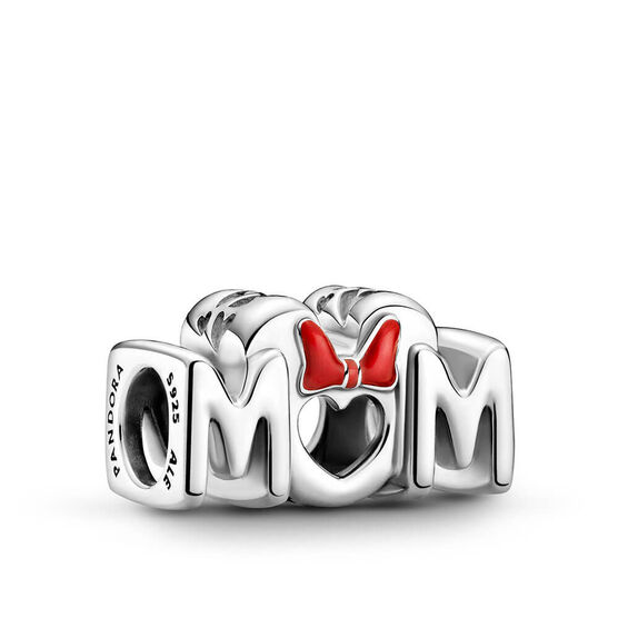 Pandora Disney Minnie Mouse Bow & Mom Enamel Charm